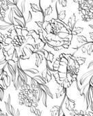 Papel de parede floral e sem costura — Vetorial Stock