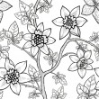 Floral repeating  wallpaper — Imagen vectorial