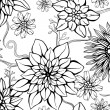 Floral repeating  wallpaper — Stockvectorbeeld
