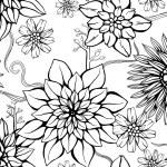 Floral repeating wallpaper — Stock Vector