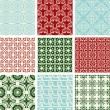Set of 9 seamless patterns. — Stock Vector #7682704