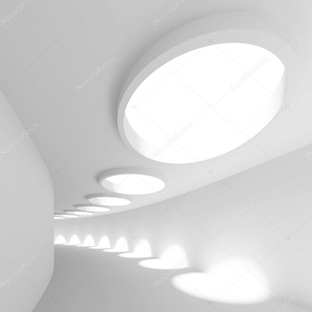 3d Illustration of White Modern Architecture Background  Stock fotografie #7604878