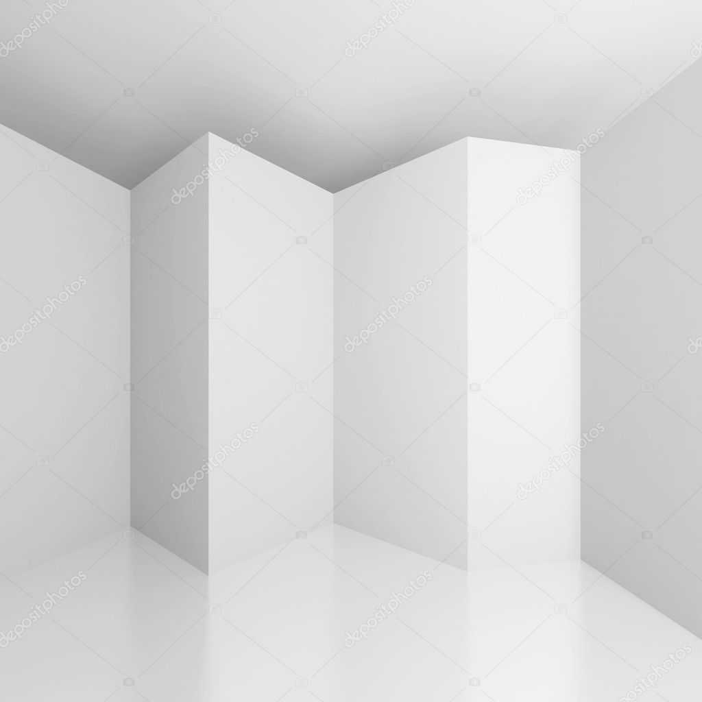 3d Illustration of White Abstract Architecture Background — Stock Photo #7700214