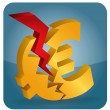 Stock Vector: Euro crash?