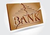 Financial concept - bank failures — Stock Vector