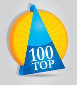 Top 100 - premio empresarial — Vector de stock