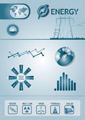 Infographic energy chart — Stock Vector