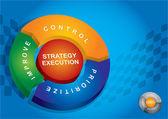 Strategy execution — Stock Vector