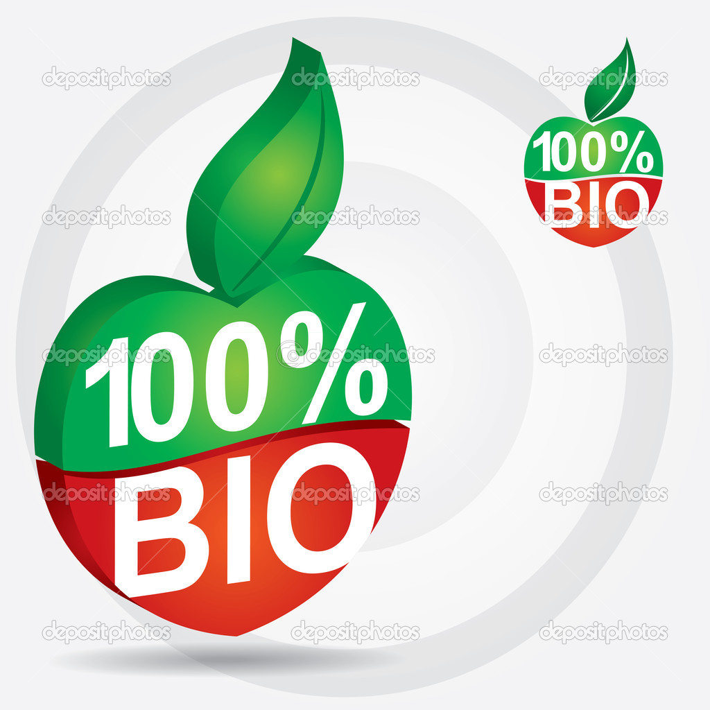 Non genetically modifies plants - bio product sign — Stock Vector #7805917