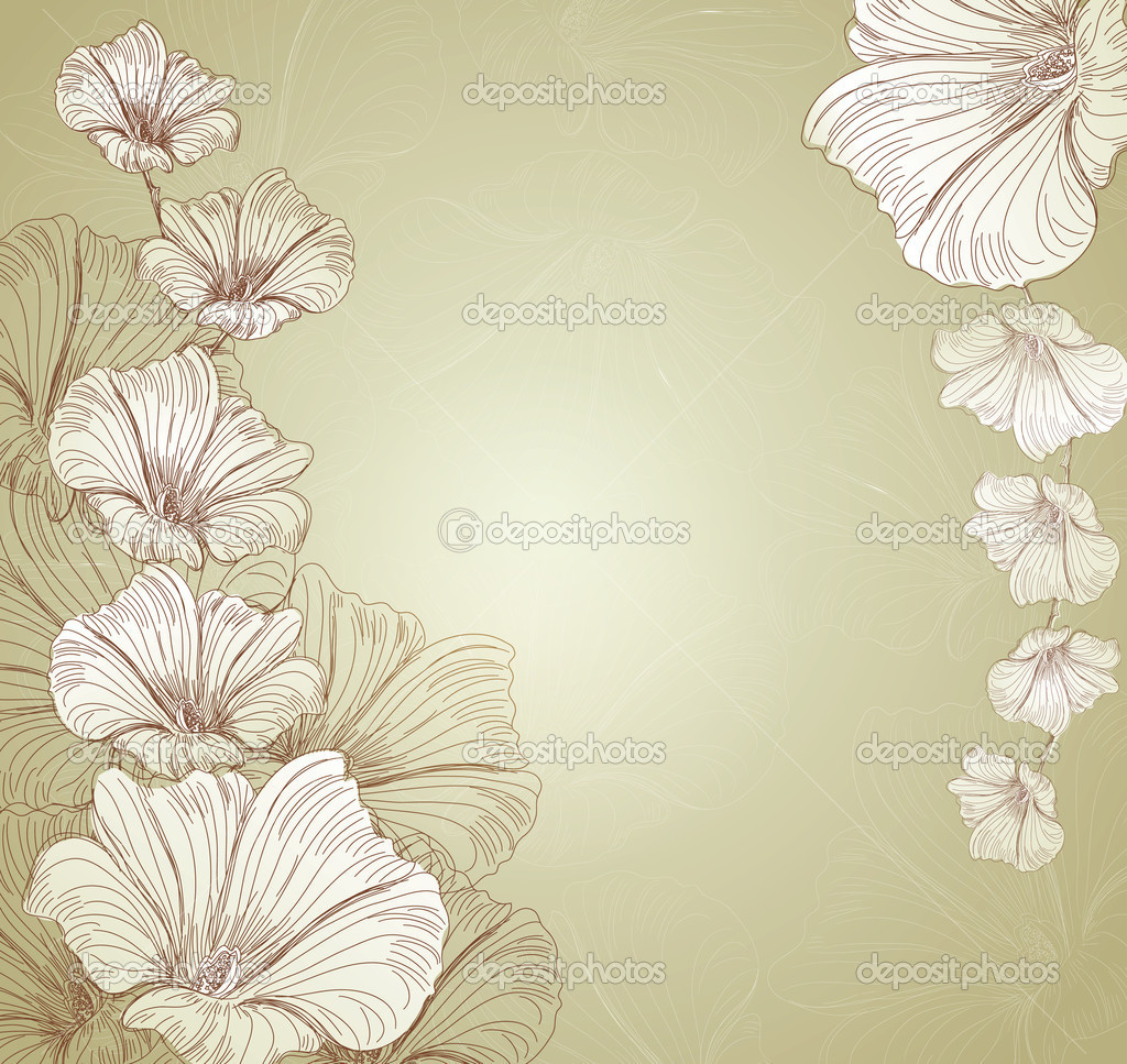 Congratulatory vector floral background — Stock Vector #6863143