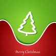 Vector festive Christmas background with Christmas tree - Stock Vector