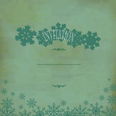 Vector vintage festive background with snowflakes (old paper) — Stock Vector
