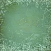 Vektor vintage, grunge weihnachten hintergrund mit schneeflocken — Stockvektor