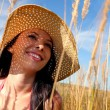 Young womwith sun hat — Stock Photo #7403030