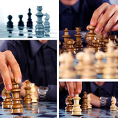Chess collage — Stock Photo