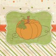 Autumn Vintage Card with Pumpkin and place for your text — Stock Vector