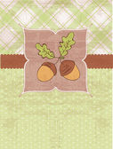 Autumn Vintage Card with Acorns and place for your text — Stock Vector