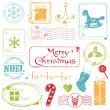Royalty-Free Stock Vector Image: Christmas Grunge Stamps Collection - great set for your design