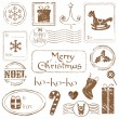 Christmas Grunge Stamps Collection - great set for your design — Stock Vector