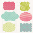 Vintage Colorful Design elements for scrapbook - Old tags — Stock Vector