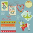 Stock Vector: Christmas Design Elements - for scrapbook, design, invitation