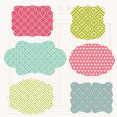 Elementos de diseño colorido vintage para scrapbook - etiquetas viejas — Vector de stock