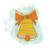 Vintage Christmas Bell Card - for scrapbook, design, invitation — Stock Vector
