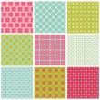 Seamless Colorful background Collection - Vintage Tile — Stock Vector #7547980