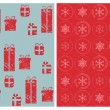 Vintage Christmas Seamless Backgrounds -for design and scrapbook — Imagen vectorial