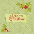 Royalty-Free Stock Imagem Vetorial: Christmas Vintage Card - for scrapbook, invitation, greetings