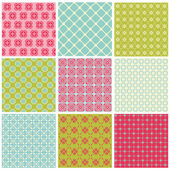 Seamless Colorful background Collection - Vintage Tile — Stock Vector