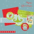 Christmas Design Elements - for scrapbook, design, invitation — Stock Vector