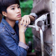 Fashion portrait asian girl — Foto Stock