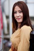 портрет азиатская девушка — Стоковое фото