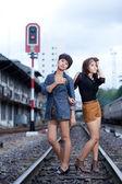 Fashion portrait asian girl — Stock Photo