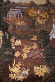 Thai Ramayana painting. — Stock Photo