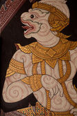 Thai Ramayana painting. — Stockfoto