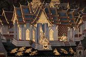 Thailändska ramayana målning. — Stockfoto