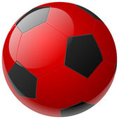 孤立现实矢量红球 — 图库矢量图片