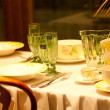 Stock Photo: Elegant Dinner Setting Background