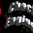Stock Photo: Change oil service engine light tune up