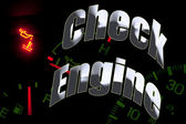 Change oil service engine light tune up — Stock Photo