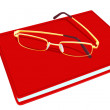 Stock Vector: Book and glasses