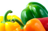 Peppers on white background — Stock Photo