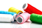 Set of colorful spools of thread — Stock Photo