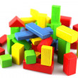 Wooden building blocks - Photo