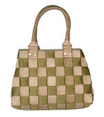 Bag in check pattern — Stock Photo