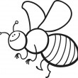 Cartoon bee coloring page - Stock Vector