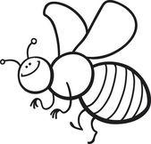 мультфильм пчела раскраски страницу — Cтоковый вектор