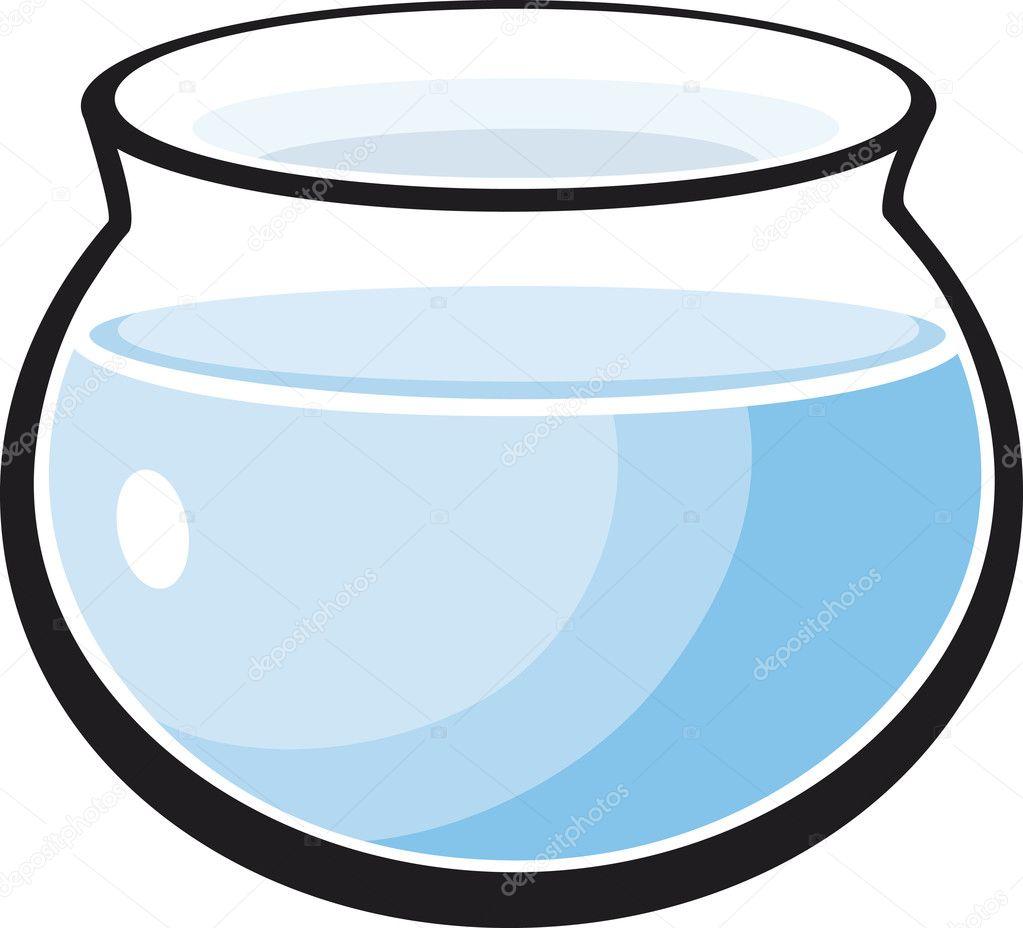 Single Hand Drawn Empty Fish Tank Cartoon Over Whi.... 10 Gallon Home Aquariums